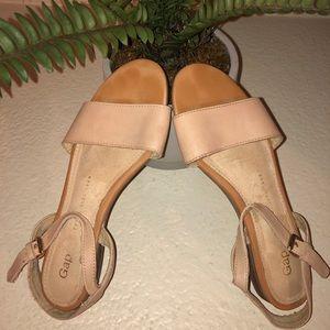 Gap Sandles Blush Pink and Tan